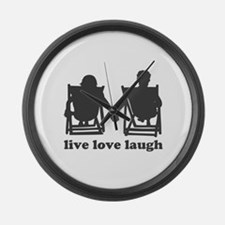Live Love Laugh Large Wall Clock