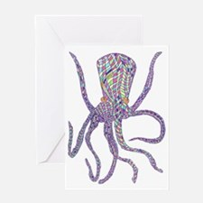 Syd Barrett's Octopus Greeting Card