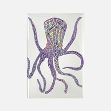 Syd Barrett's Octopus Rectangle Magnet