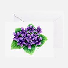 Violets Greeting Cards