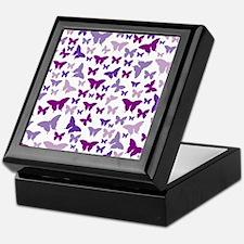 Pretty Purple Butterflies Keepsake Box