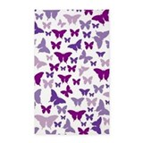 Purple butterfly rug Area Rugs