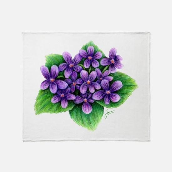 Violets Throw Blanket