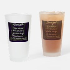 Strength Drinking Glass