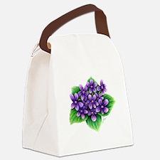 Violets Canvas Lunch Bag
