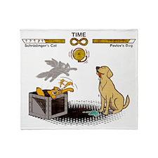 Schrodingers cat vs Pavlovs dog Infi Throw Blanket