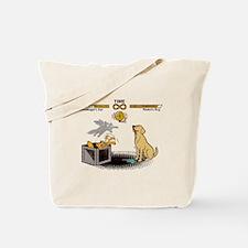 Schrodingers cat vs Pavlovs dog Infinity Tote Bag