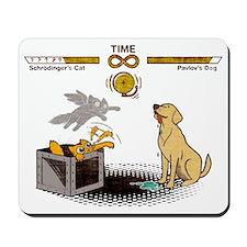 Schrodingers cat vs Pavlovs dog Infinity Mousepad