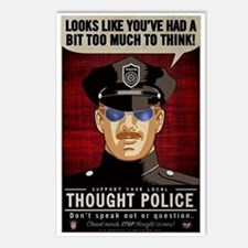 Thought Police Free Speec Postcards (Package of 8)