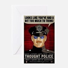 Thought Police Free Speech Free Thou Greeting Card