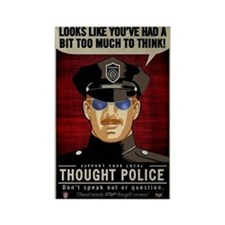 Thought Police Free Speech Free T Rectangle Magnet