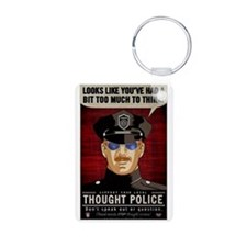 Thought Police Free Speech Keychains