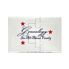 Genealogy Rectangle Magnet