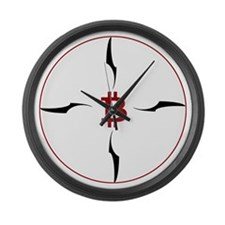 Bitcoin compass Large Wall Clock