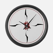 Bitcoin compass Large Wall Clock