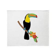 Toucan Bird Throw Blanket