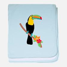 Toucan Bird baby blanket