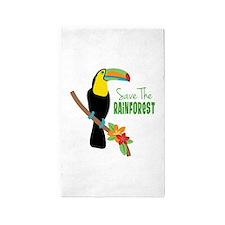 Save The Rainforest 3'x5' Area Rug