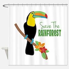 Save The Rainforest Shower Curtain