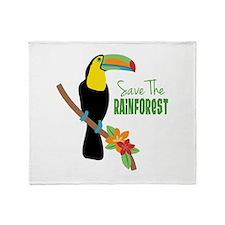 Save The Rainforest Throw Blanket