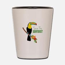 Save The Rainforest Shot Glass
