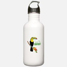 Save The Rainforest Water Bottle