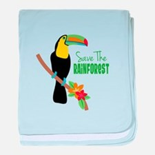 Save The Rainforest baby blanket