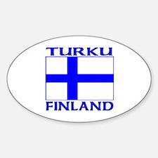 Turku, Finland Oval Decal
