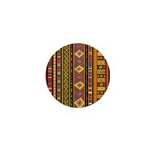Ethnic Colorful Pattern Africa Art Mini Button