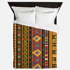 Ethnic Colorful Pattern Africa Art Queen Duvet
