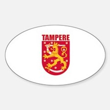 Tampere, Finland Oval Decal