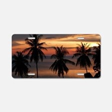Wonderful Sunset Aluminum License Plate