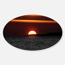 Wonderful Sunset Sticker (Oval)
