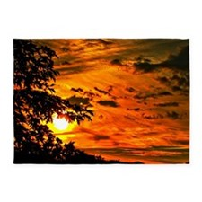 Wonderful Sunset 5'x7'Area Rug
