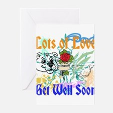 lots of love, get well soon Greeting Cards