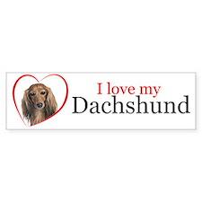 Love My Dachshund Bumper Bumper Sticker