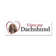 Love My Dachshund Car Magnet 10 x 3