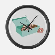 Donut Box Large Wall Clock