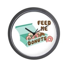Feed Me Donuts Wall Clock