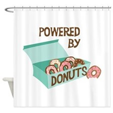 Powered By Donuts Shower Curtain
