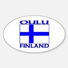 Oulu, Finland Oval Decal