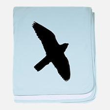 Peregrine Falcon Silhouette baby blanket