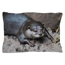 Adorable North American River Otter Pillow Case