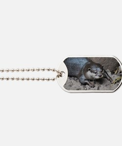 Adorable North American River Otter Dog Tags
