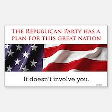 Republican Plan Sticker (Rect.)