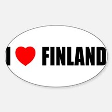 I Love Finland Oval Decal