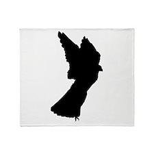 Merlin Falcon Silhouette Throw Blanket
