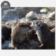 Cuddling River Otters Puzzle