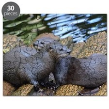 Pair of Cuddling River Otters Puzzle