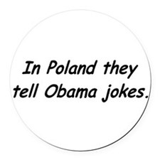 Funny Michele obama Round Car Magnet